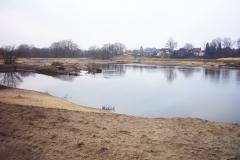 Ems 2011 während der Renaturierung - links ist die neue Insel